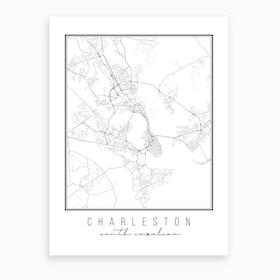 Charleston South Carolina Street Map Art Print
