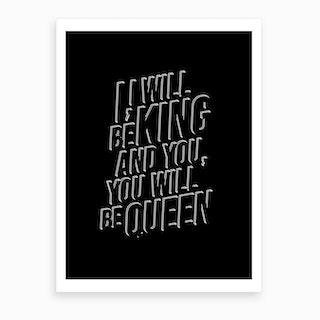 Bowie Lyrics Art Print