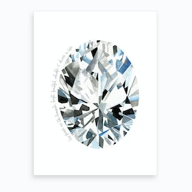 Oval Diamond Art Print