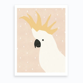 Cockatoo Nursery  Children'S Animal Art  Art Print