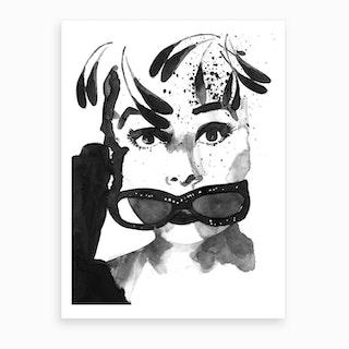 Audrey Feathers Art Print