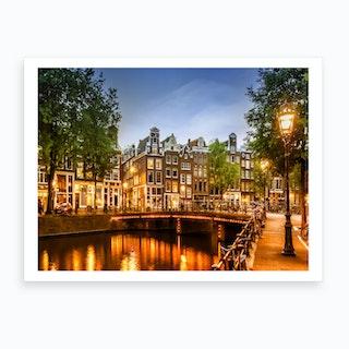 Amsterdam Idyllic Impression From Singel Art Print