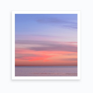 Pink Ocean Sunset Art Print