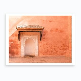 Ancient Moroccan Door And Wall 2 Art Print