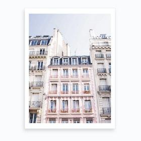 Pink Houses Print Art Print