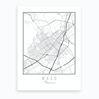 Waco Texas Street Map Art Print