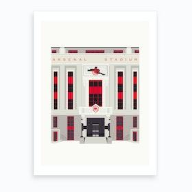The Old Arsenal Stadium Art Print
