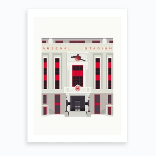 The Old Arsenal Stadium Art Print