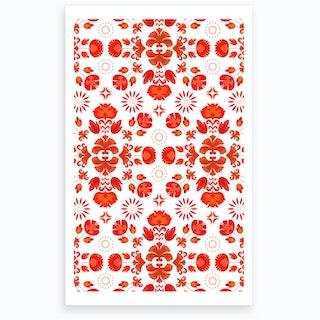 Wrong Fiesta Folk Red Art Print