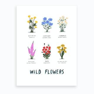 Wild Flowers Print Art Print