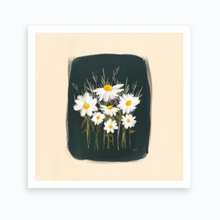 Elenas Daisies Art Print