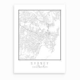 Sydney Australia Street Map Art Print