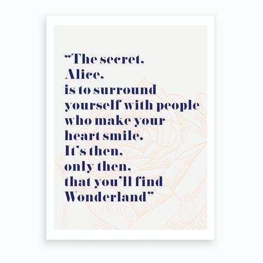 Wonderland Alice Quote Art Print