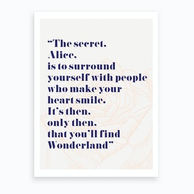 Wonderland Alice Quote Art Print