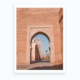 Mosque Marrakech Morocco 2 Art Print