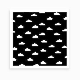 Cloudy Day X Dark Night Art Print