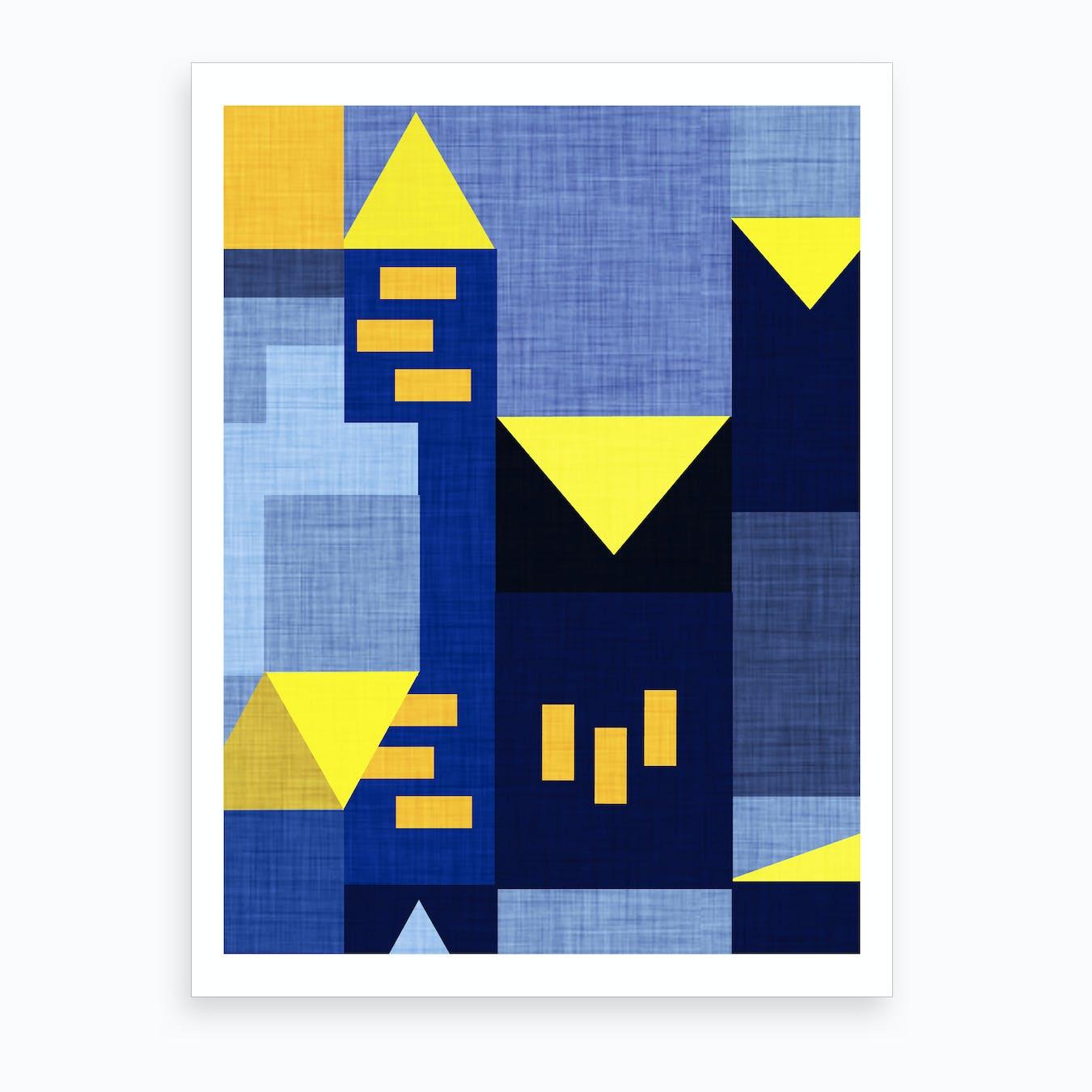 B Klee Blue Art Print