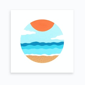 Summer At The Beach Art Print