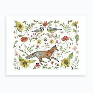 Summer Fox Art Print
