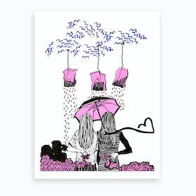 Tea Drops And Love Art Print