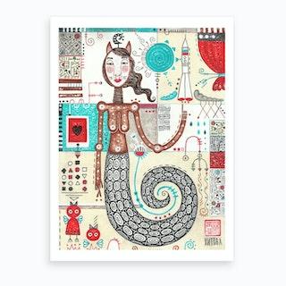 Snakie Art Print