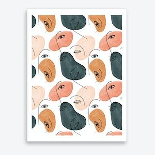 Minimal Figurative Pattern Art Print