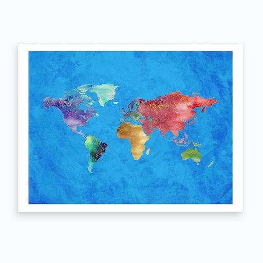 Artistic World Map Iii Art Print