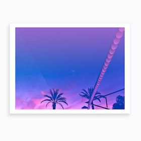 Palms And Sunset Art Print