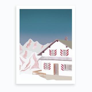 Mountain Love   Mountain Lodge Art Print