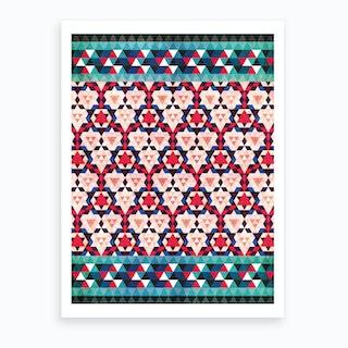 Bohemian Moroccan Mosaic Art Print
