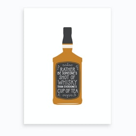 Whisky Shot Art Print