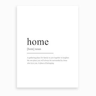 Home Definition Art Print