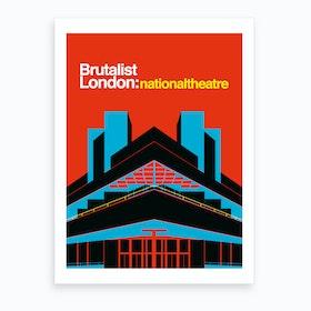 National Theatre London Art Print