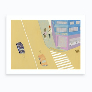 Pet Shop Corner Art Print