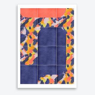 Messy Painted Tiles 02 Art Print