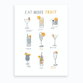 Eat More Fruit Art Print