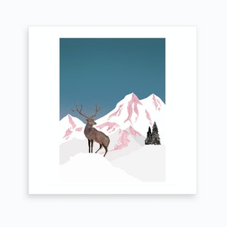 Mountain Love   Stag2 Art Print