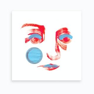 Pink Mona Lisa Smile 2 Art Print