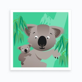 Kids Room Koalas Art Print
