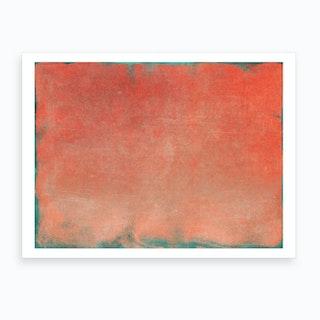 Minimal Abstract Orange Colorfield Painting 2 Art Print