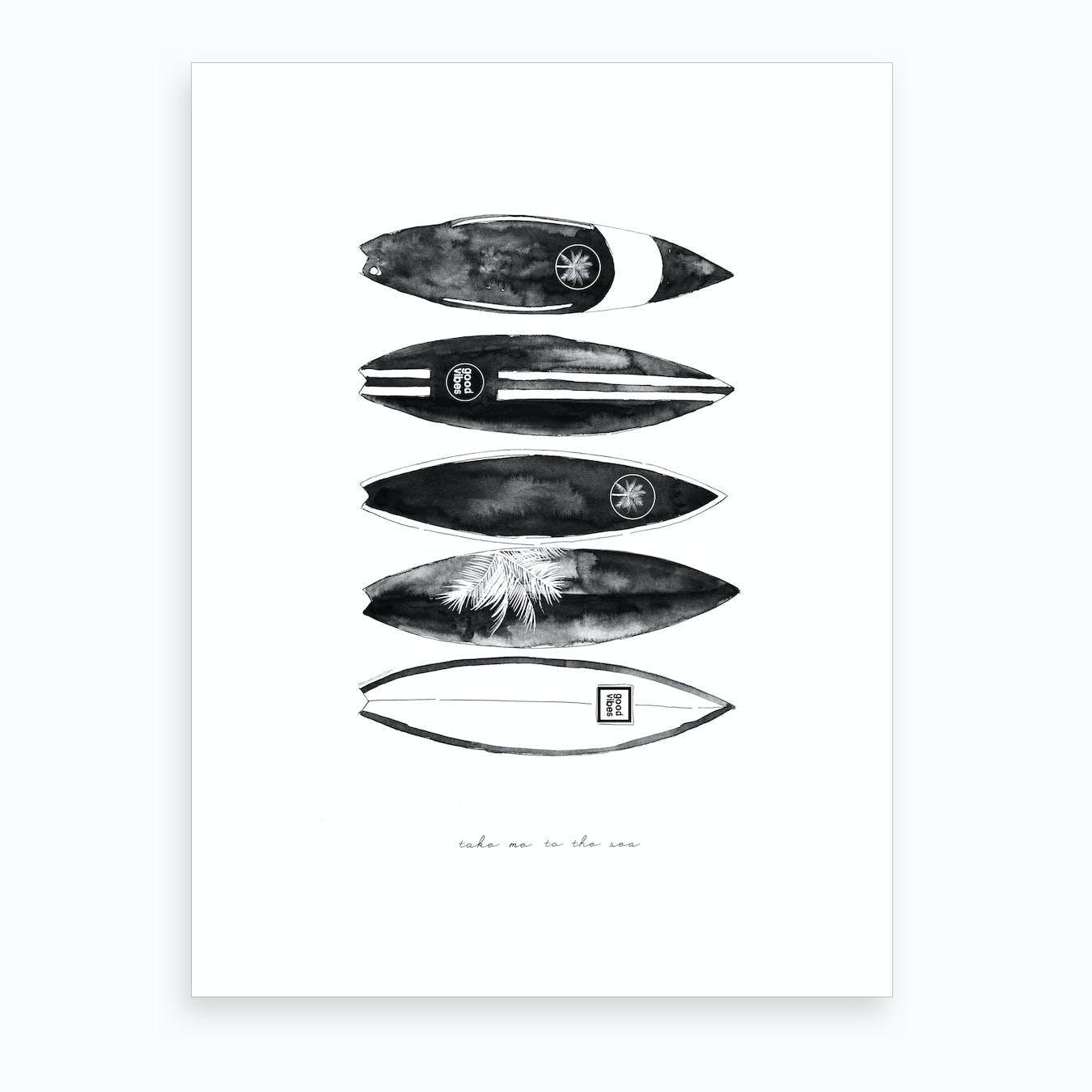 Fashion Surfboards Art Print