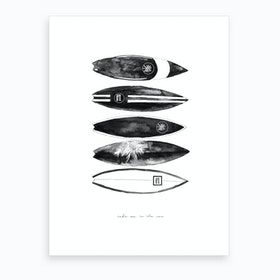 Fashion Surfboards Art Print