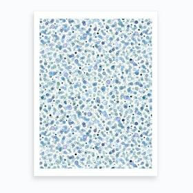 Cosmic Bubbles Blue Art Print