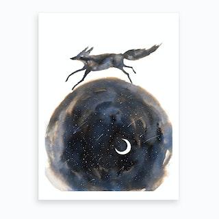 Cosmic Wolf Art Print