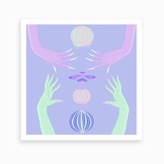 Planet Hands Art Print