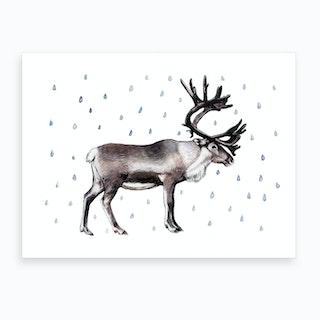 Looks Like Reindeer Art Print