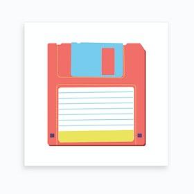 Floppy Disk Art Print