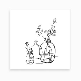 Flower Jars Art Print