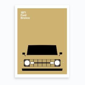 1971 Ford Bronco Art Print