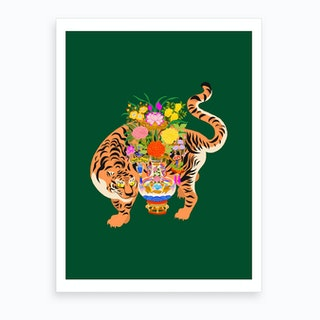 Good Luck Tiger Art Print
